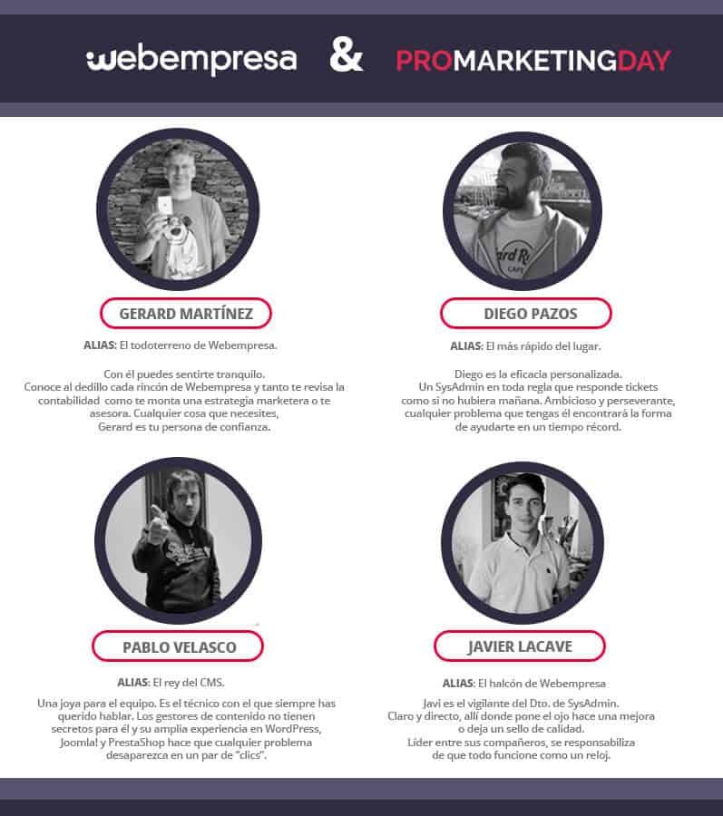 Equipo Webempresa en PRO Marketing Day
