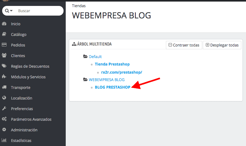 Configurar la dirección de la tienda desde PrestaShop