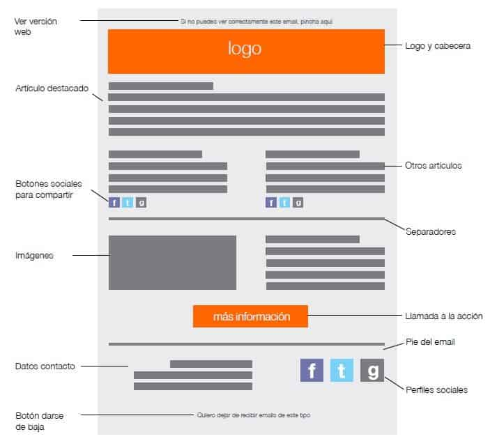 Anatomía de una newsletter