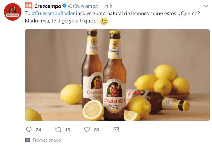 Campaña de branding en Twitter Ads