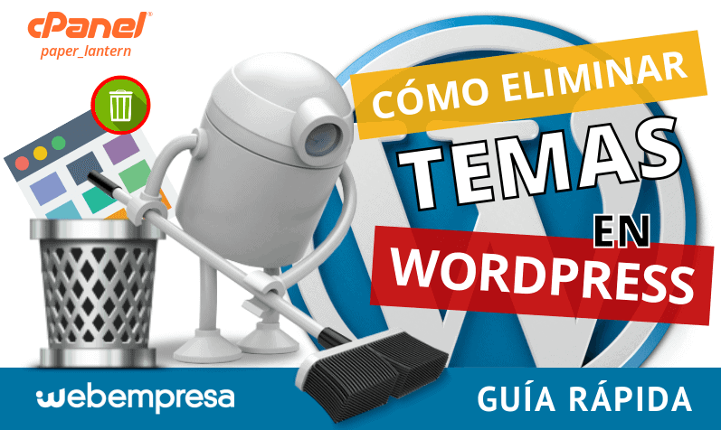 eliminar temas en WordPress