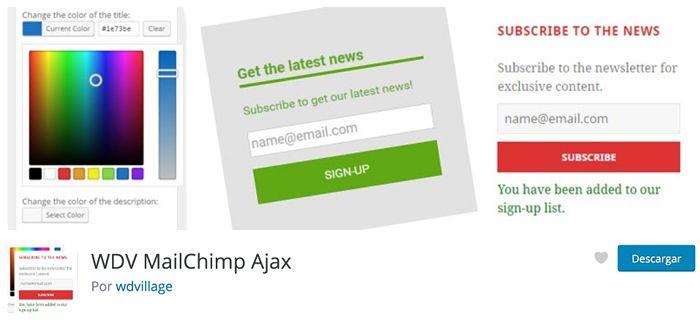 WDV Mailchimp Ajax