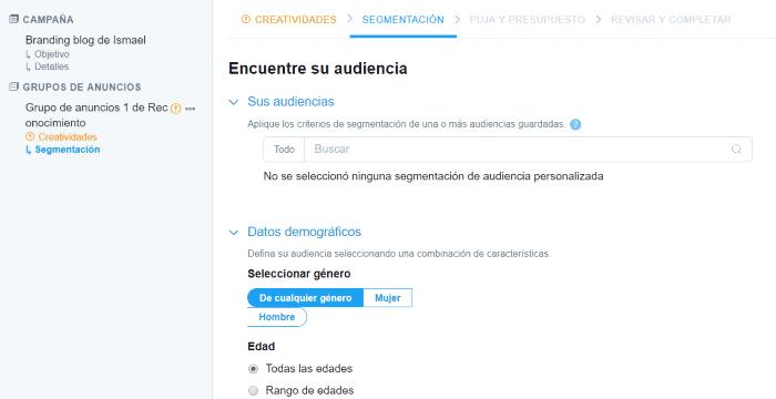 Segmentación de audiencia en Twitter Ads