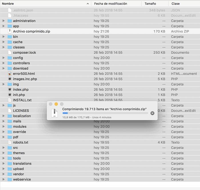 Seleccionar archivos y carpetas