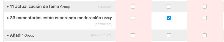Desactivar opción moderación comentarios