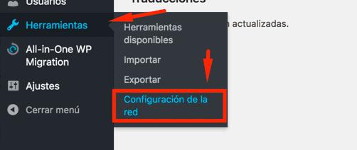 Configuración de la Red
