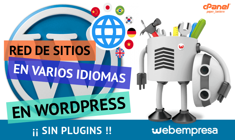 Red de Sitios WordPress en varios idiomas ¡sin plugins!