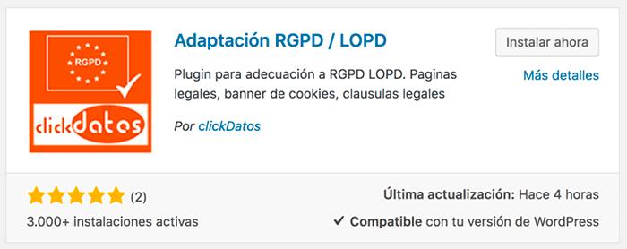 Adaptación RGPD / LOPD
