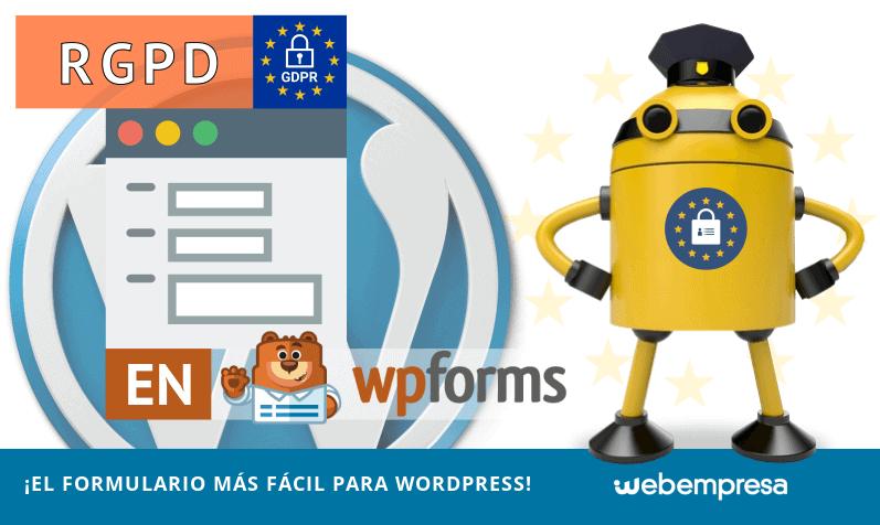 RGPD en WPForms ¡el formulario más fácil para WordPress!