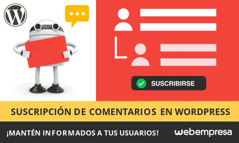 Suscripción a comentarios en WordPress