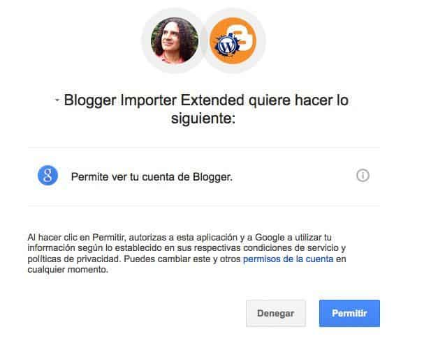 Autoriza a conectar tu cuenta de Google
