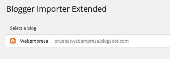 cuenta de Blogger vinculada con el plugin