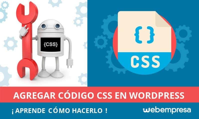 código CSS en WordPress