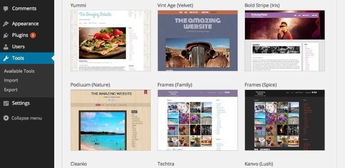 Cómo elegir un tema WordPress