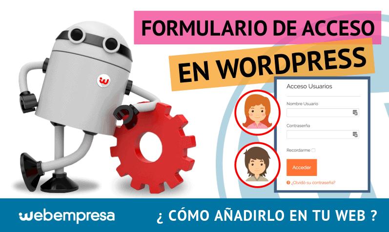 Formulario de Acceso en WordPress ¿cómo añadirlo en tu web?