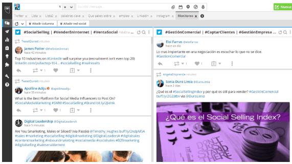 Hootsuite para seguimiento de un hashtag
