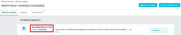 Actualización 1-click