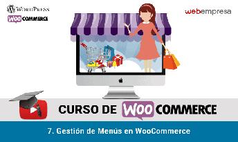 curso woocommerce menus