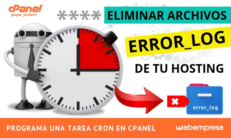 Eliminar archivos error_log