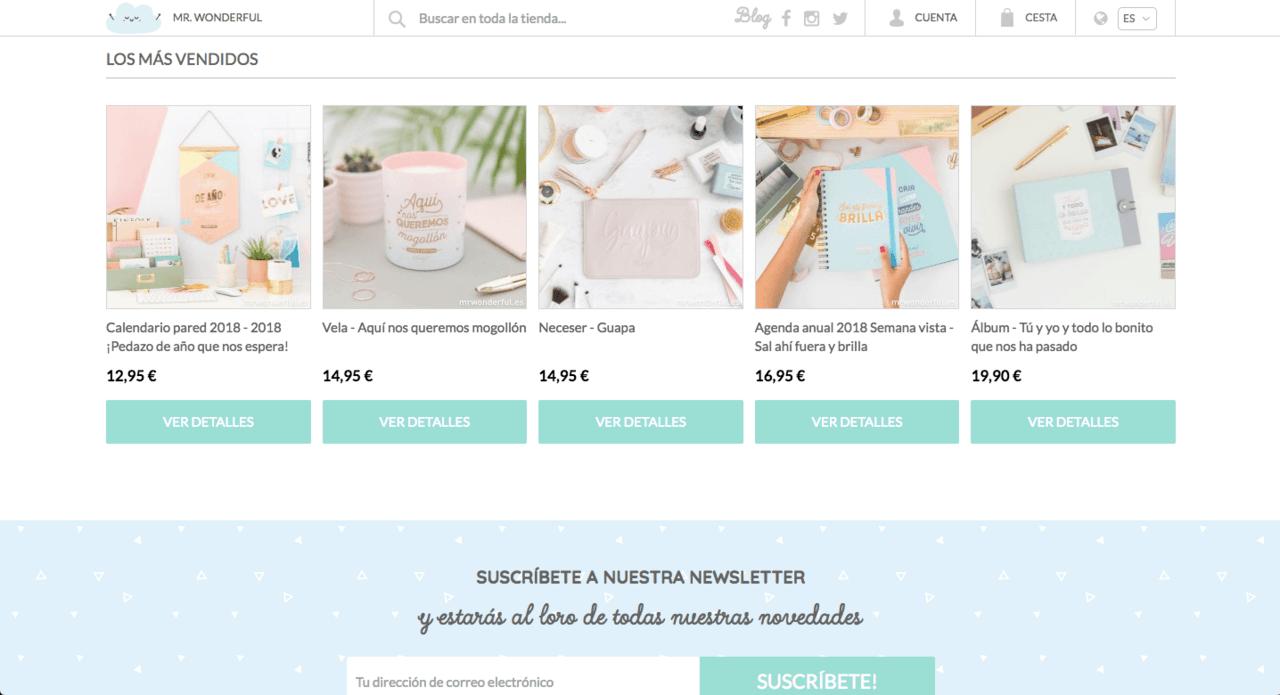 Copywriting en ecommerce: productos más vendidos