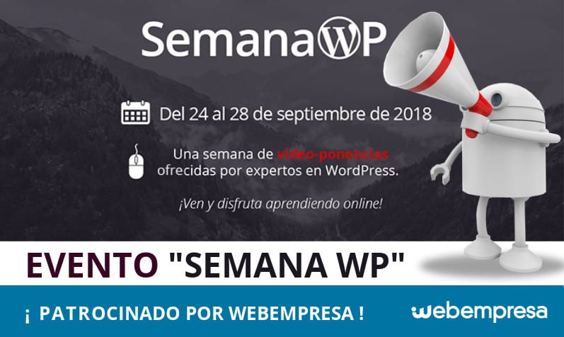 SemanaWP, ¡Webempresa patrocina un nuevo evento WordPress!