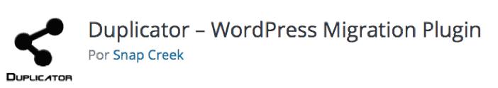 Duplicator de WordPress