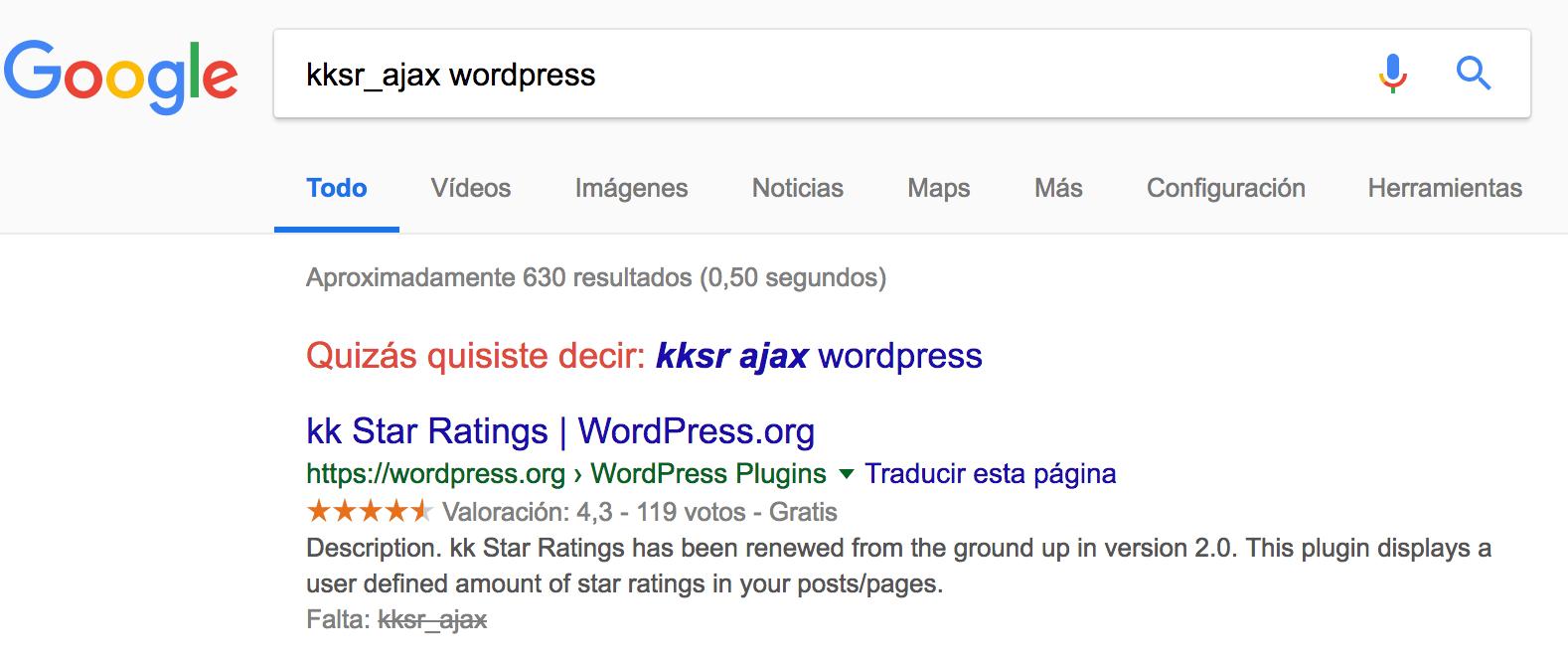 Búsqueda en Google de kksr_ajax