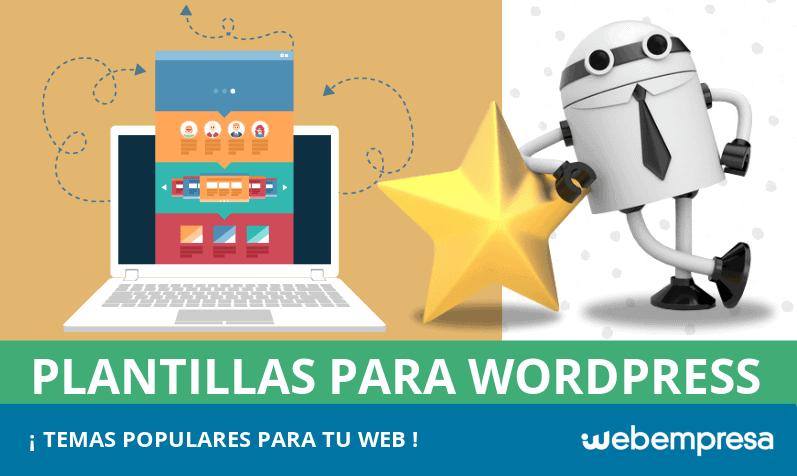 Plantillas WordPress: TOP 10 de temas populares para tu web