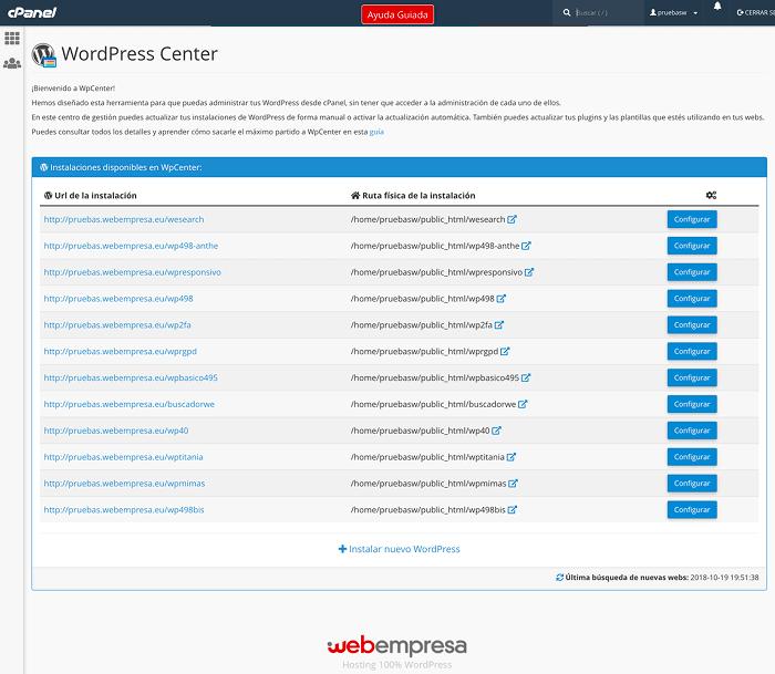 Administrar múltiples WordPress con WPCenter