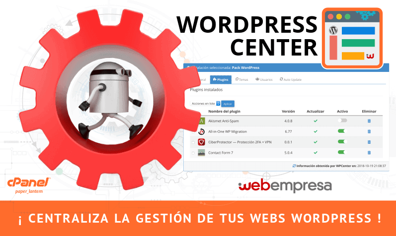 WPCenter para WordPress