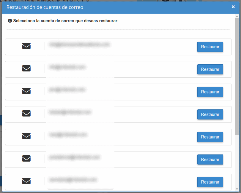 Selecciona cuenta de correo