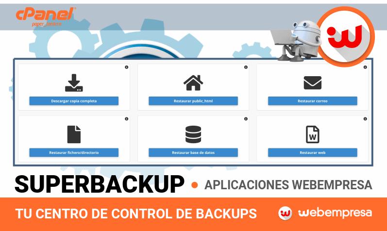 Copias de Seguridad con SuperBackup