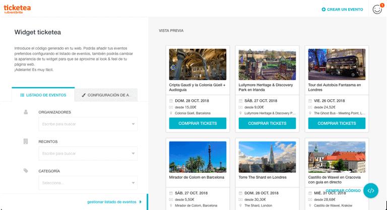 Ejemplo de infoproducto para eCommerce: widgets