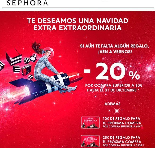 Ejemplo Sephora de campaña navideñas en eCommerce