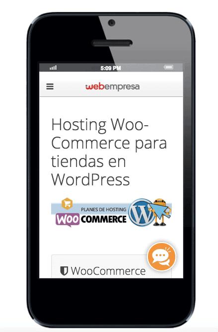 Ejemplo de tendencia en diseño web para 2019: landing de hosting WooCommerce
