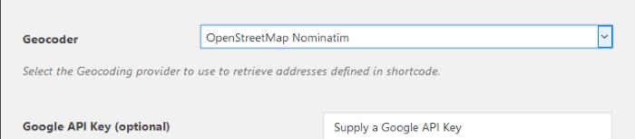 Configuración del GeoCoder