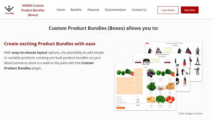 Productos a medida en Woocomerce. Plugin WISDM Custom Product Bundles