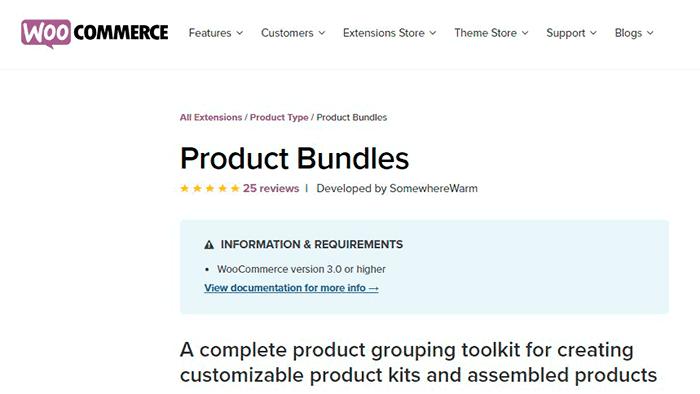 Productos a medida en Woocomerce. Plugin Woocommerce Product Bundles