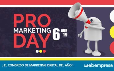 PRO Marketing Day 2019: Webempresa en el evento del año