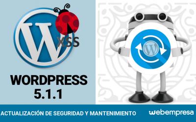 WordPress 5.1.1 ¡versión de seguridad!