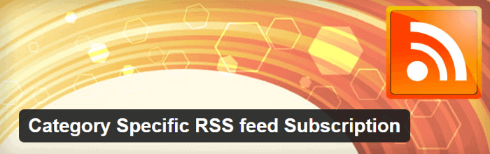 Category Specific RSS feed Subscription