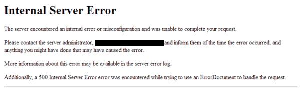 Problemas más comunes en WordPress: 500 Internal Server Error