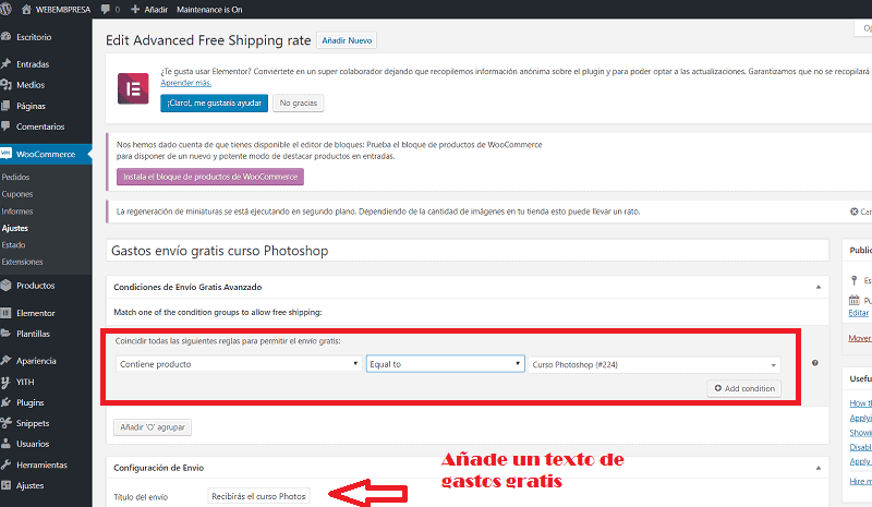 Pagos recurrentes en WooCommerce: plugin WooCommerce Avanced Free Shipping