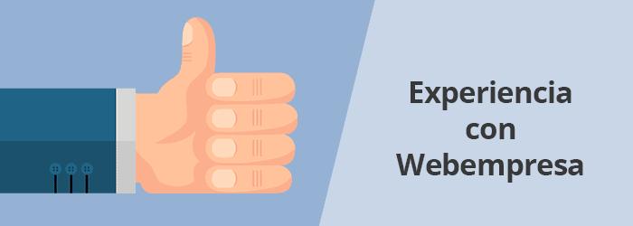 Experiencia con Webempresa