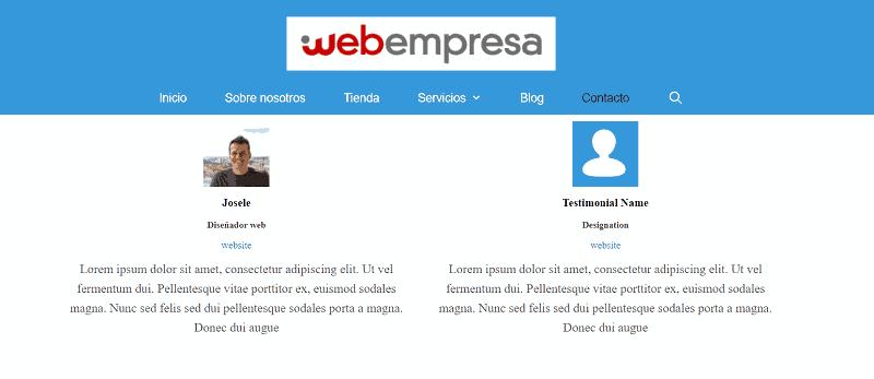 Plugins de testimonios para WordPress: Testimonial Builder