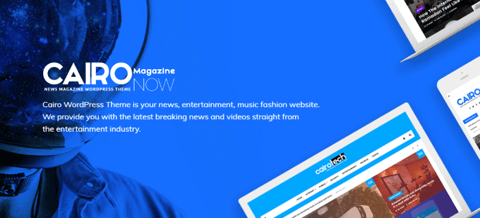 Temas WordPress preparados para AMP: Cairo