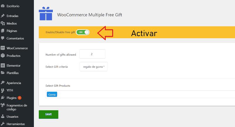 Plugins de regalos en productos de WooCommerce