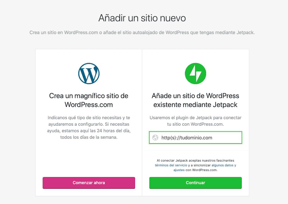 ¿Cómo administrar WordPress desde tu móvil?: añadir un sitio nuevo