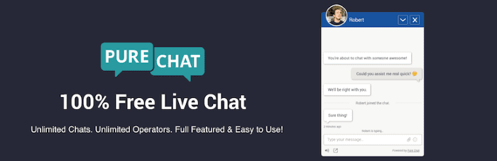 Plugins de Live Chat para WordPress: Pure Chat