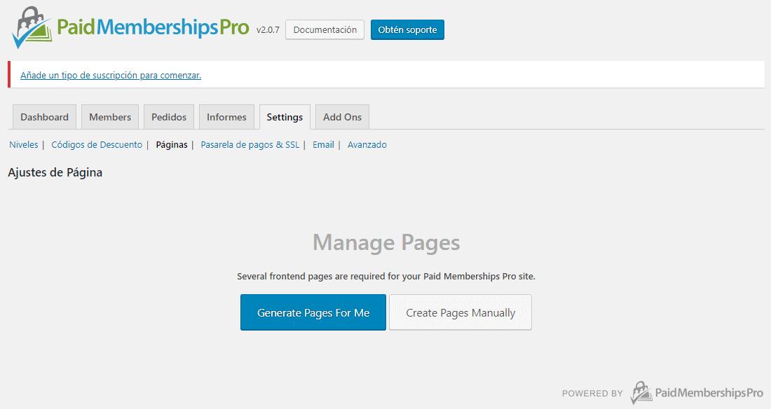 Cómo construir un sitio de membresía en WordPress: crear páginas